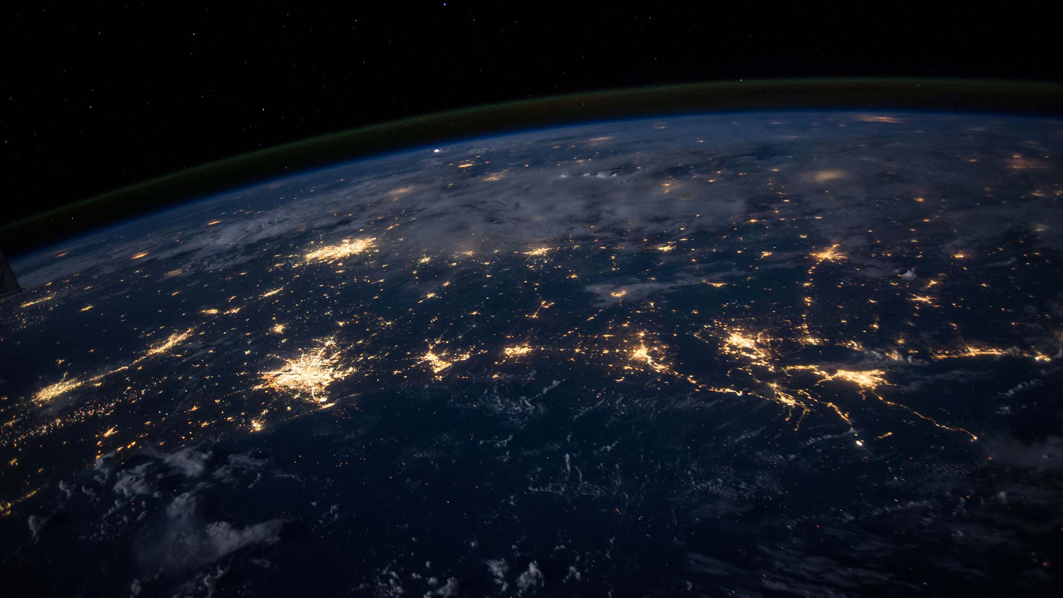 Photo of earth lights resembling neural network
